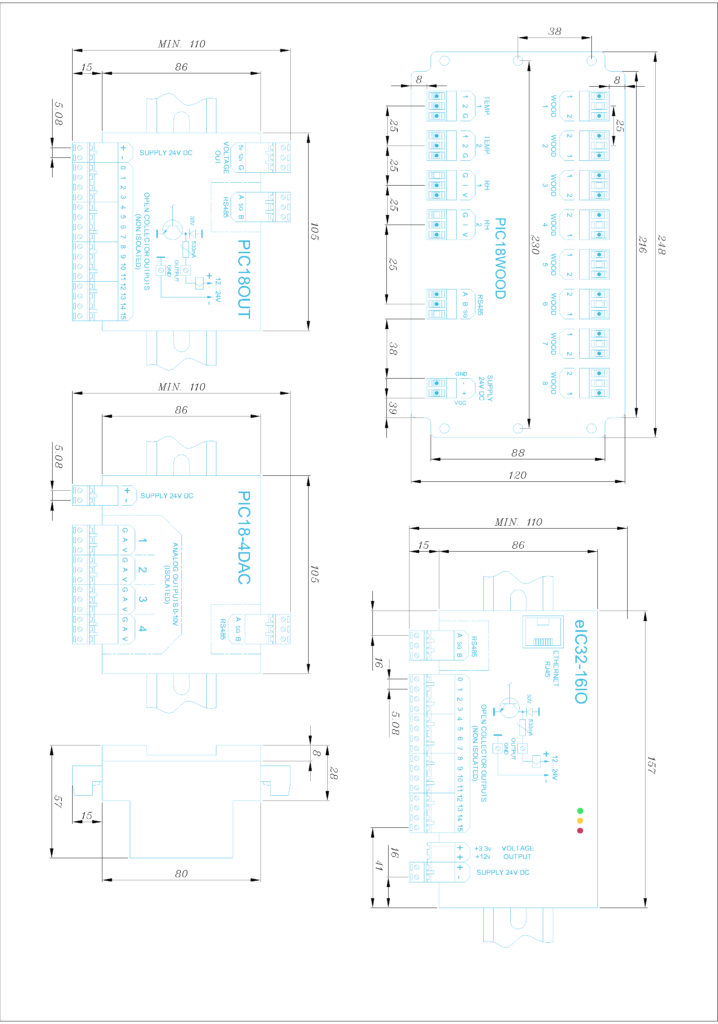 Dimensiuni Module Electronice